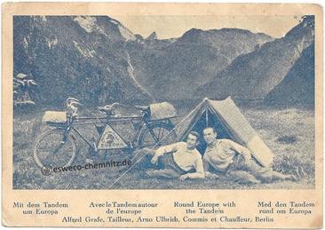 Tandem Postkarte