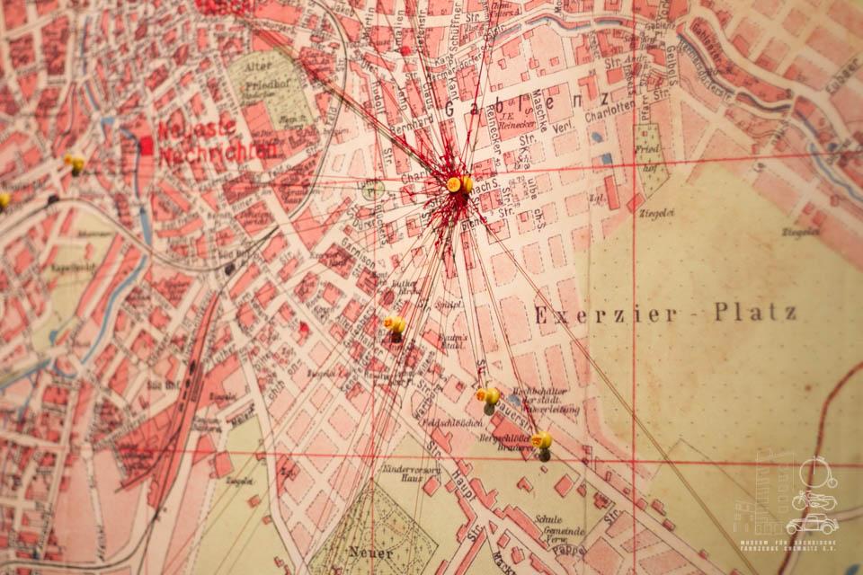 Nahaufnahme Karte