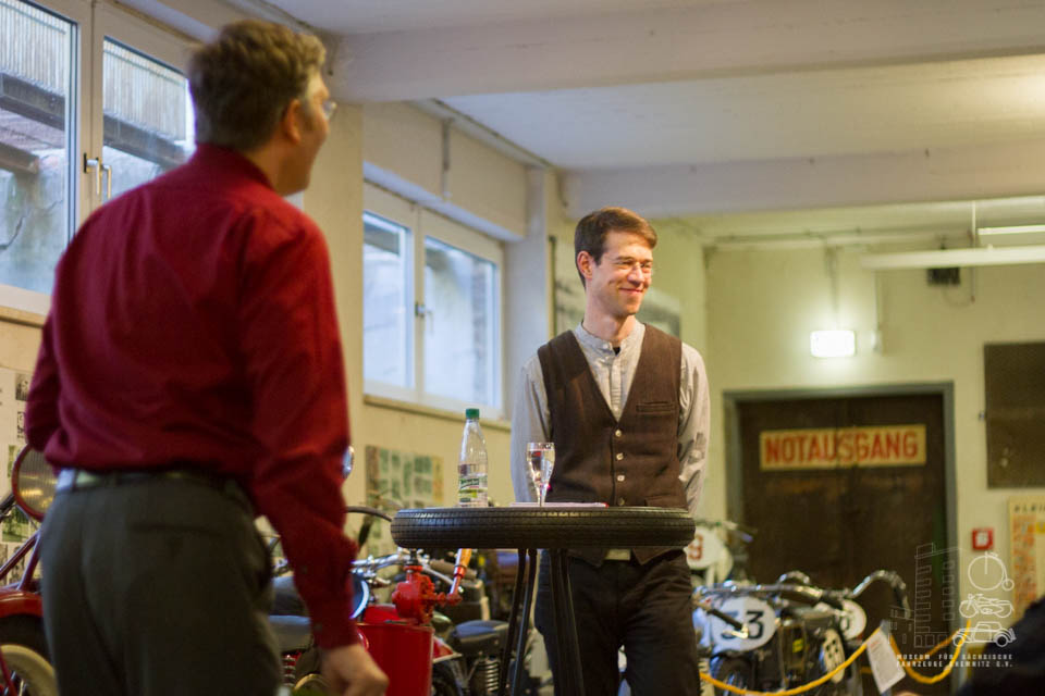 Matthias Ackermann und Dirk Schmerschneider beim Vortrag