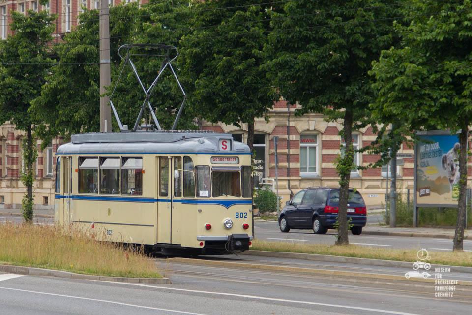 Sonderfahrt in alter Straßenbahn