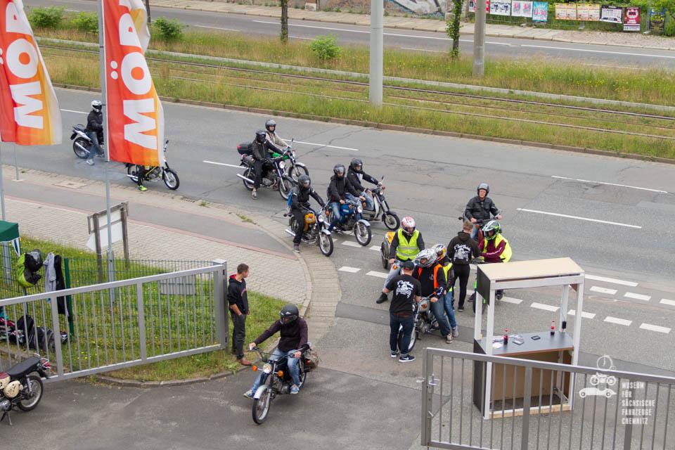 Ankunft der Teilnehmer