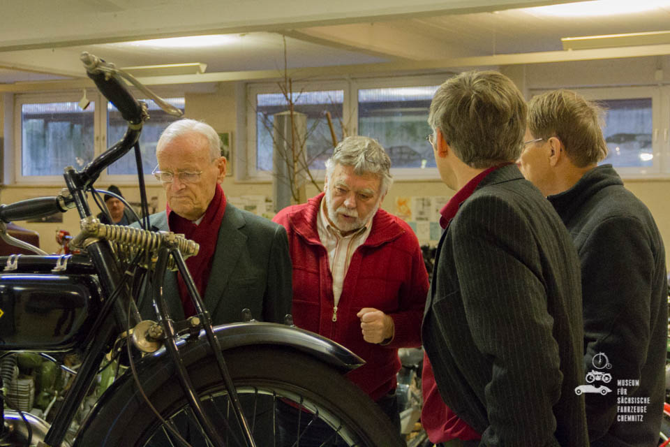 Fachgespräche zwischen Carl H. Hahn, Frieder Bach und Dirk Schmerschneider