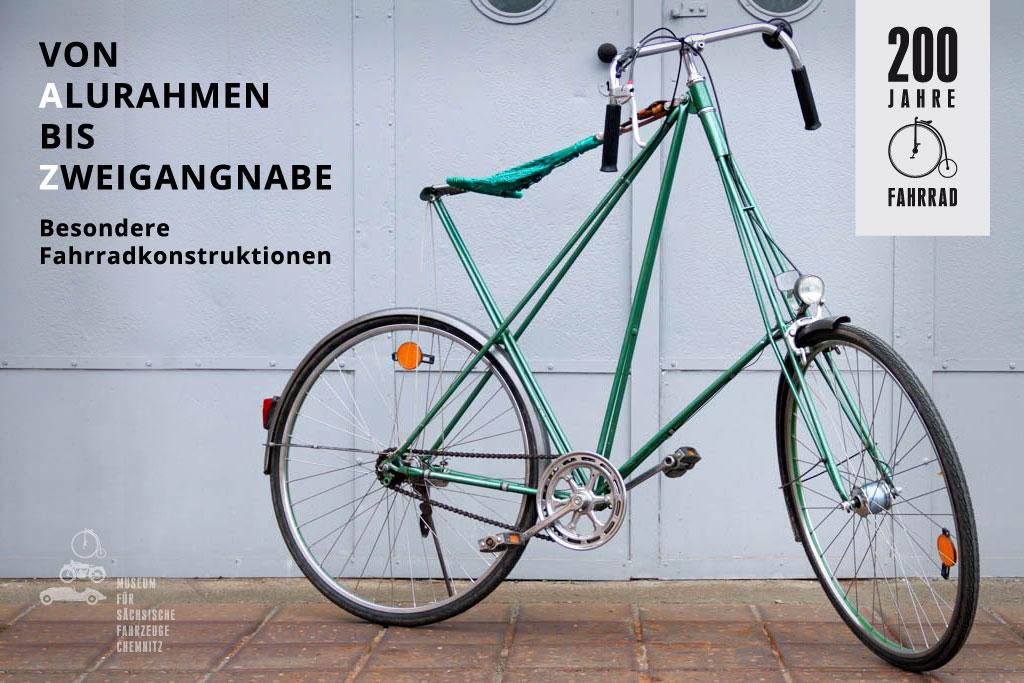 Von Alurahmen bis Zweigangnabe - Besondere Fahrradkonstruktionen aus 200 Jahren