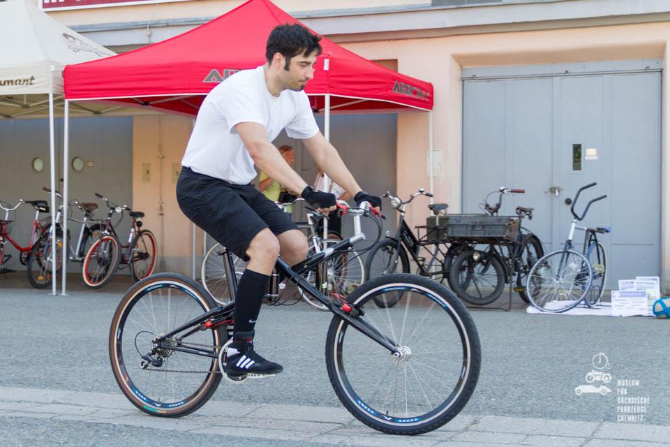 Martin vom Radballteam des TuS Ebersdorf