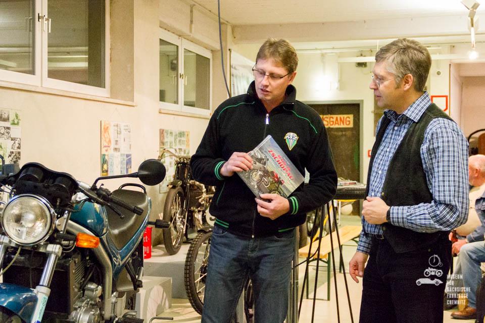 René Zapf und Dirk Schmerschneider im Gespräch