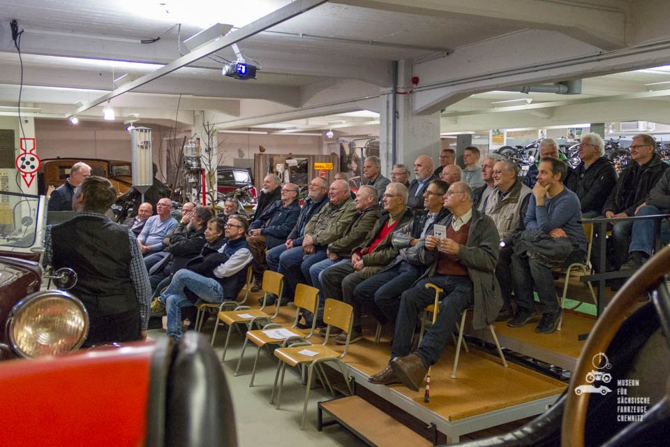 Seitenblick auf die Zuhörer