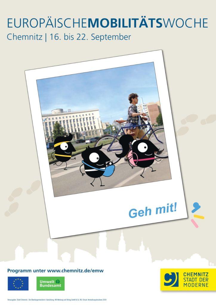 Werbeplakat der europäischen Mobilitätswoche
