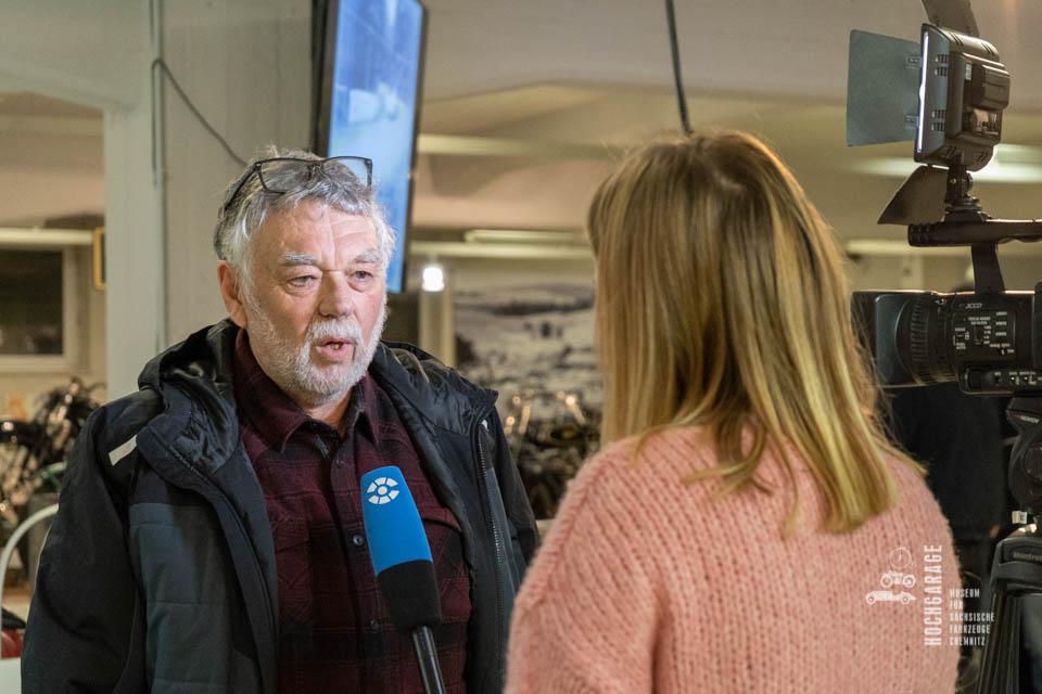 Frieder Bach im Interview mit dem Chemnitz Fernsehen