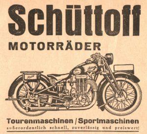 Schüttoff Motorräder K500 Werbung