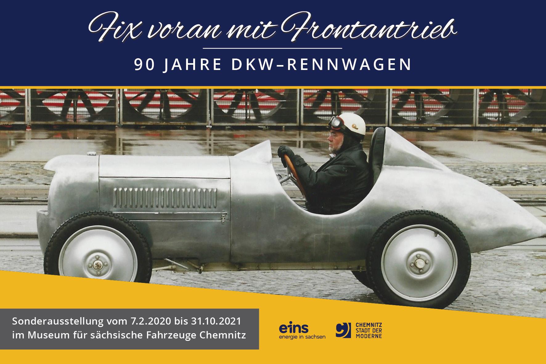 Sonderausstellung Fix voran mit Frontantrieb – 90 Jahre DKW-Rennwagen