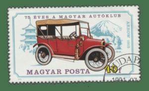 Briefmarke mit Oldtimer