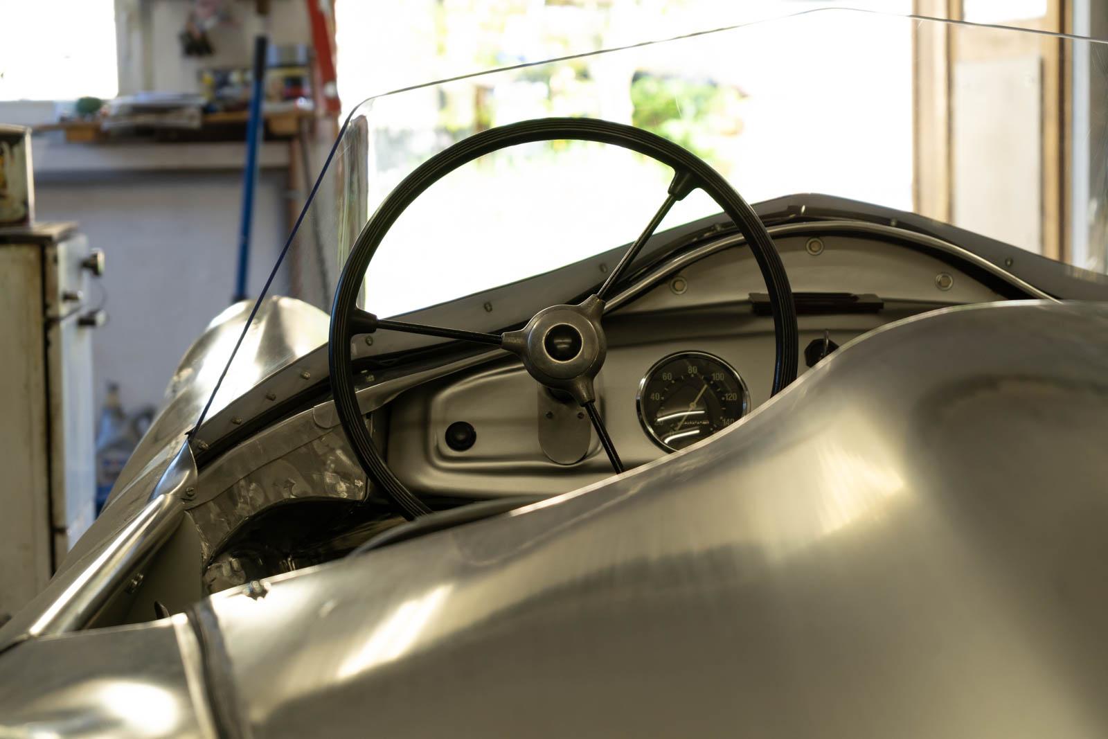 Blick auf das Cockpit