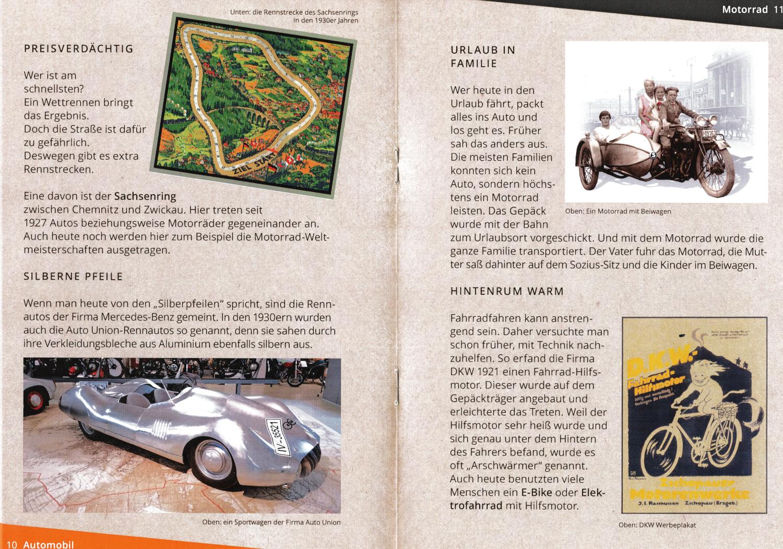 Auszug aus dem Kinderheft des Museums für sächsische Fahrzeuge Chemnitz