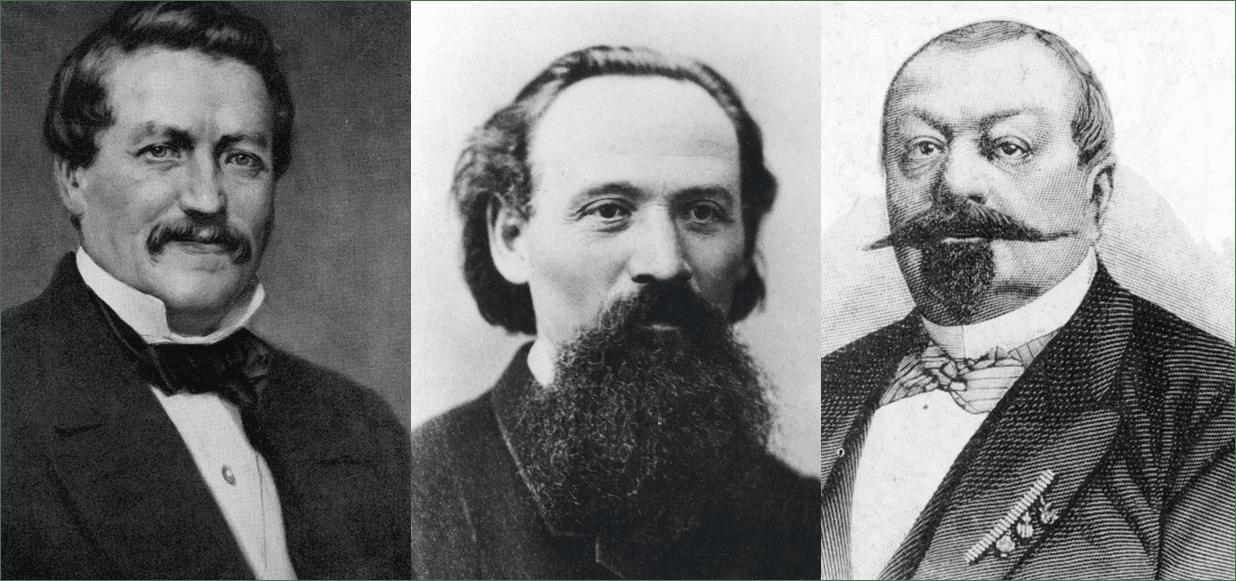 Fotos von Richard Hartmann, Luis Ferdinand Schönherr und Johann von Zimmermann