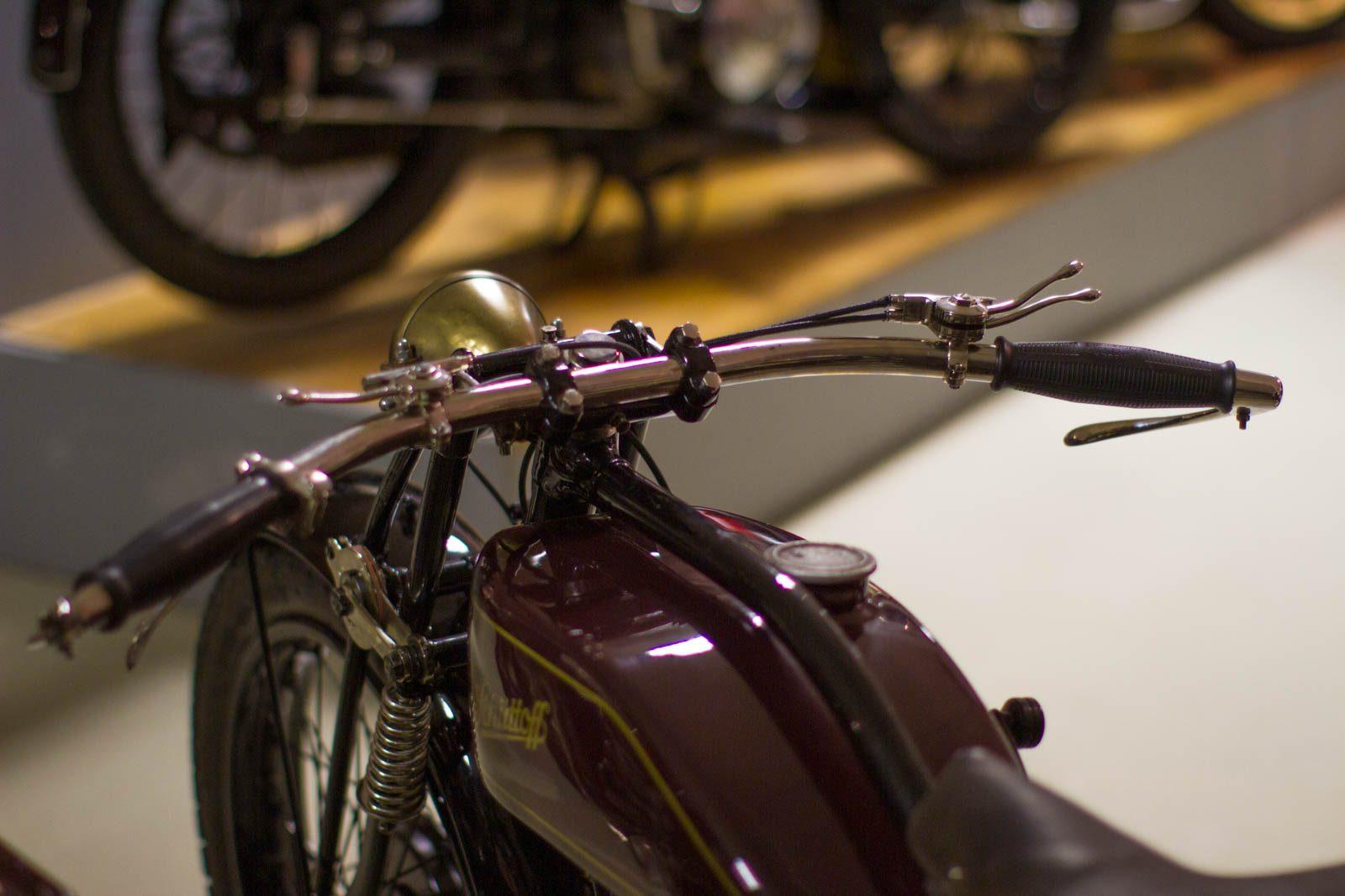 Nahaufnahme Schüttoff Motorrad