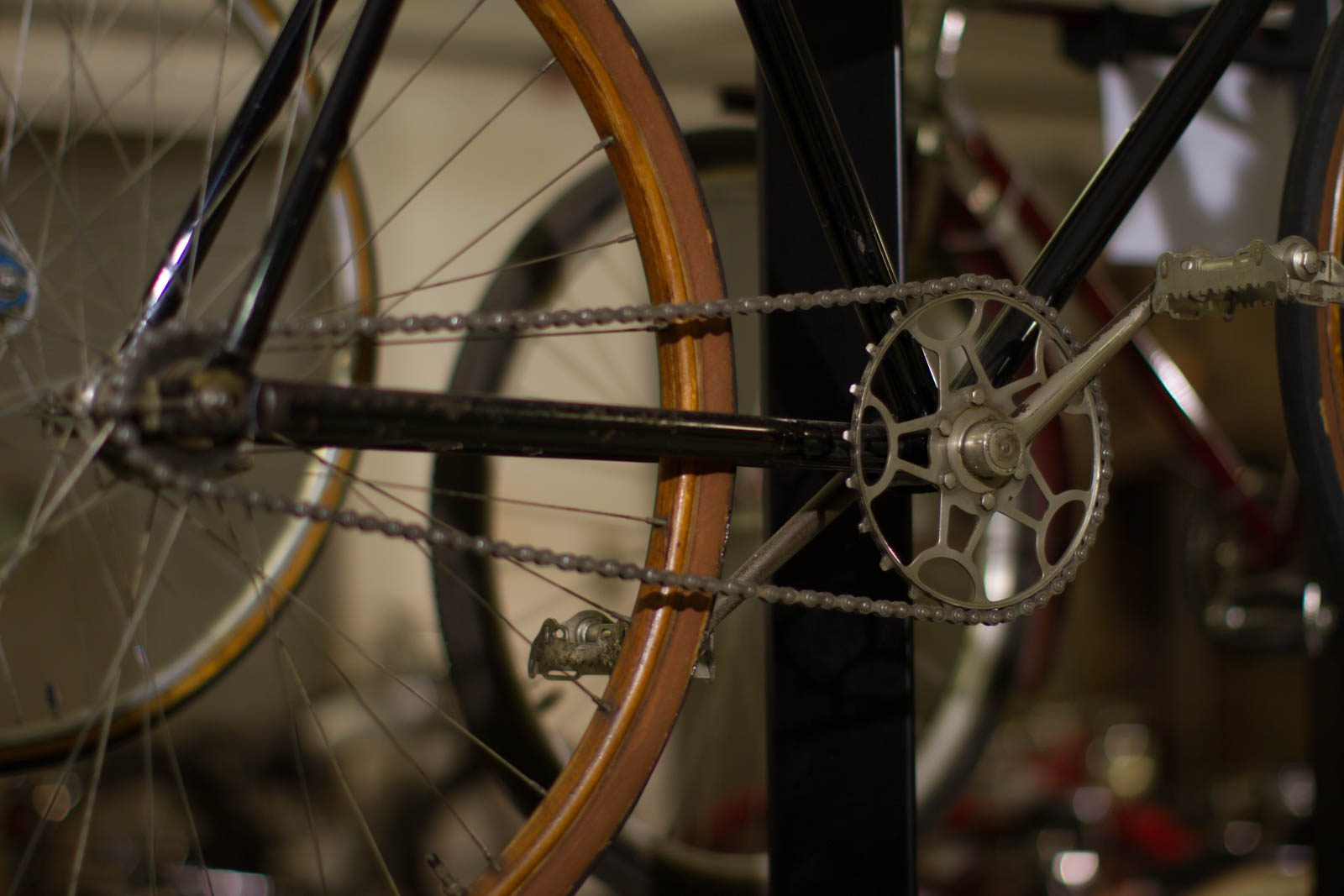 Nahaufnahme Fahrradkette