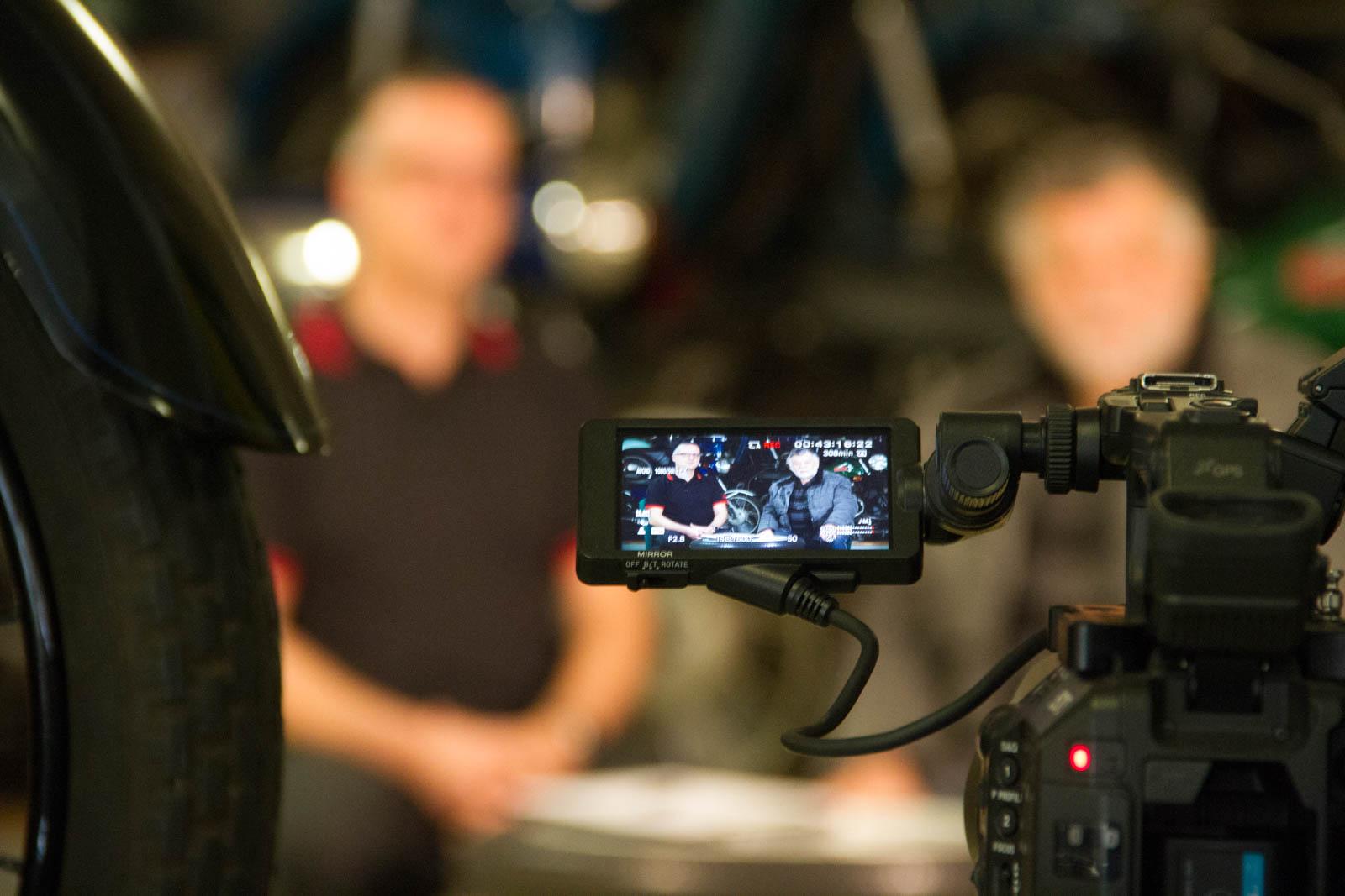 Zeitzeugen Reihe Blick auf eine Kameradisplay