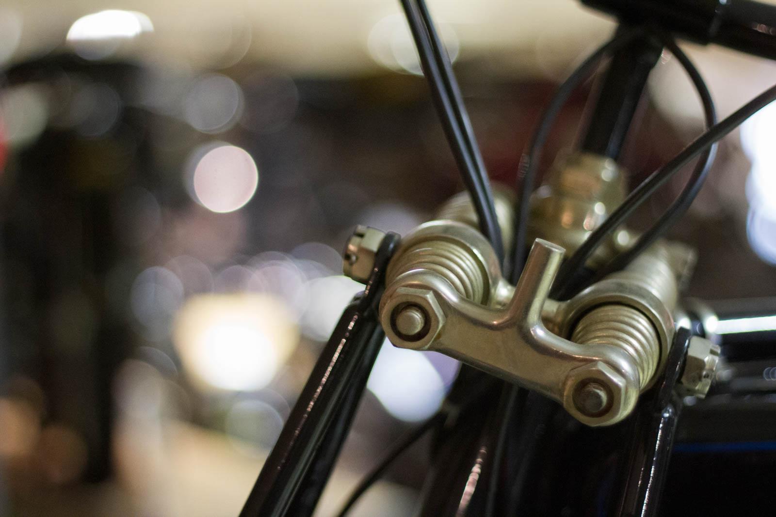 Nahaufnahme Fahrradfeder