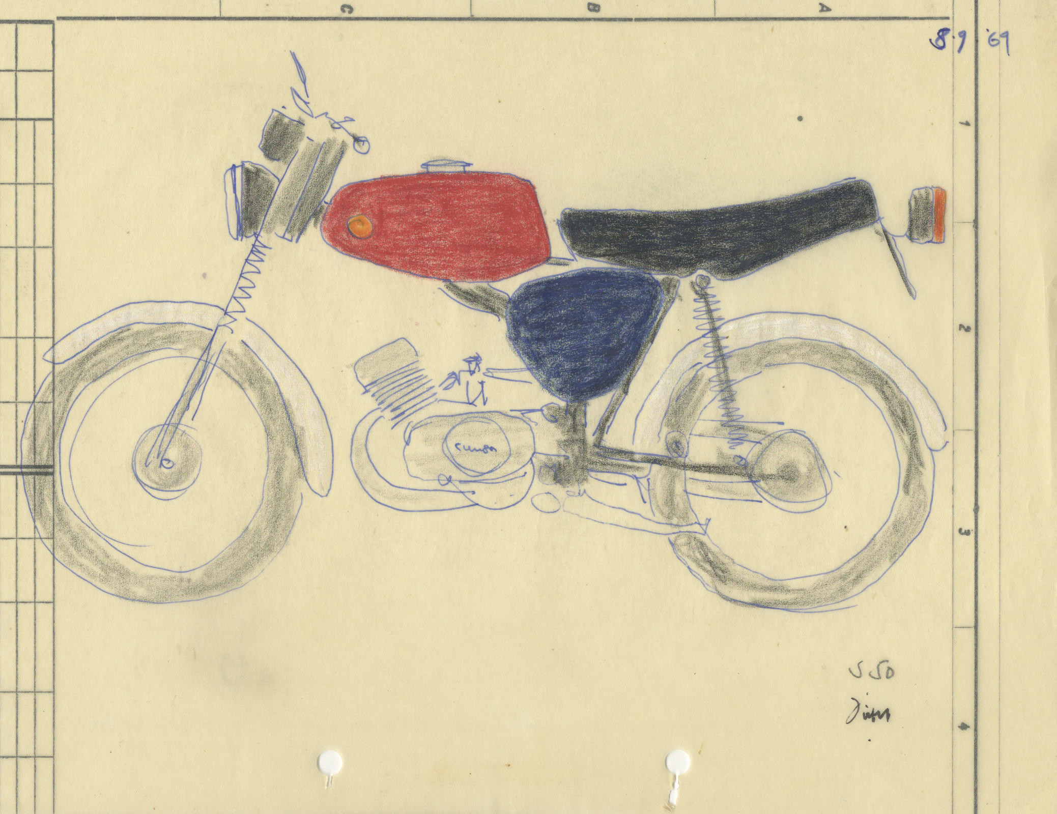 Karl Clauss Dietels Entwurf Mokick Simson S 50, 1969