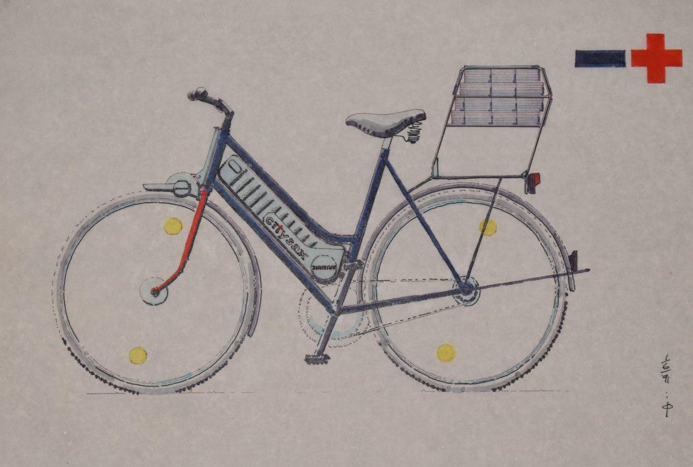 Karl Clauss Dietels Entwurf des Diamant-Elektrofahrrades, 1991
