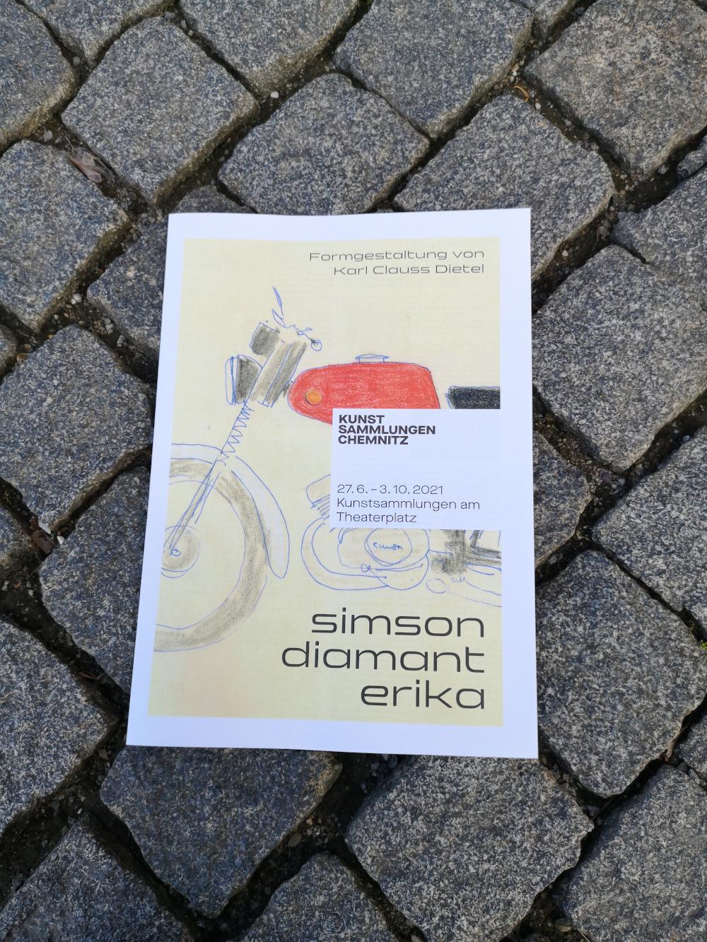 "Plakat zur Ausstellung ""simson diamant erika"""