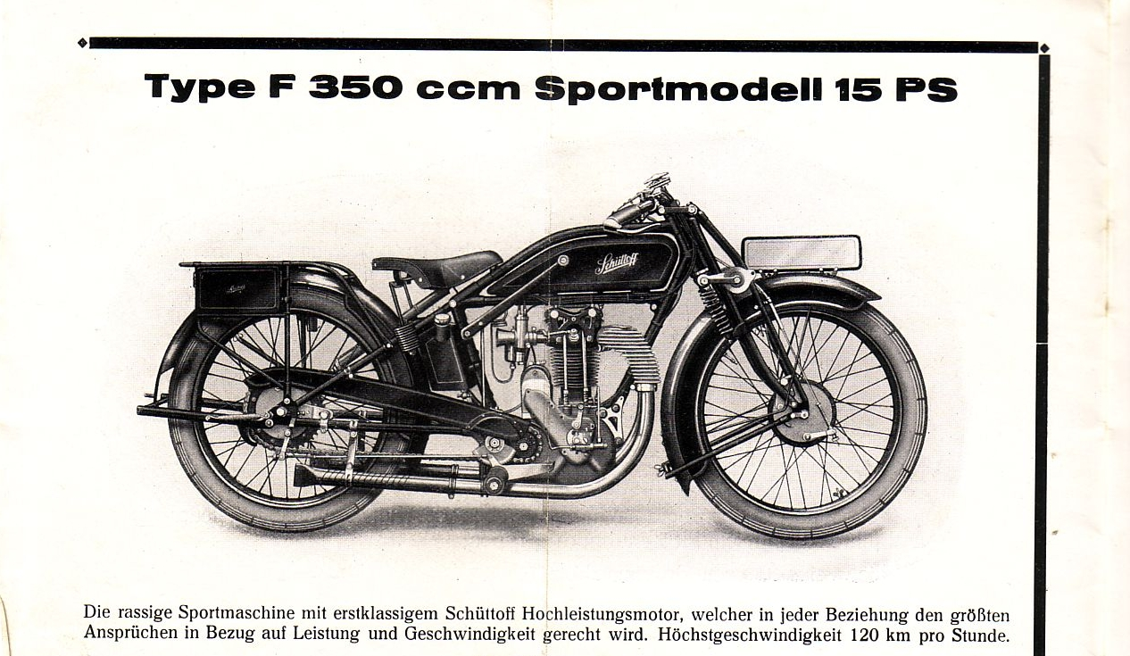 Historische Werbung für die Schüttoff F 350