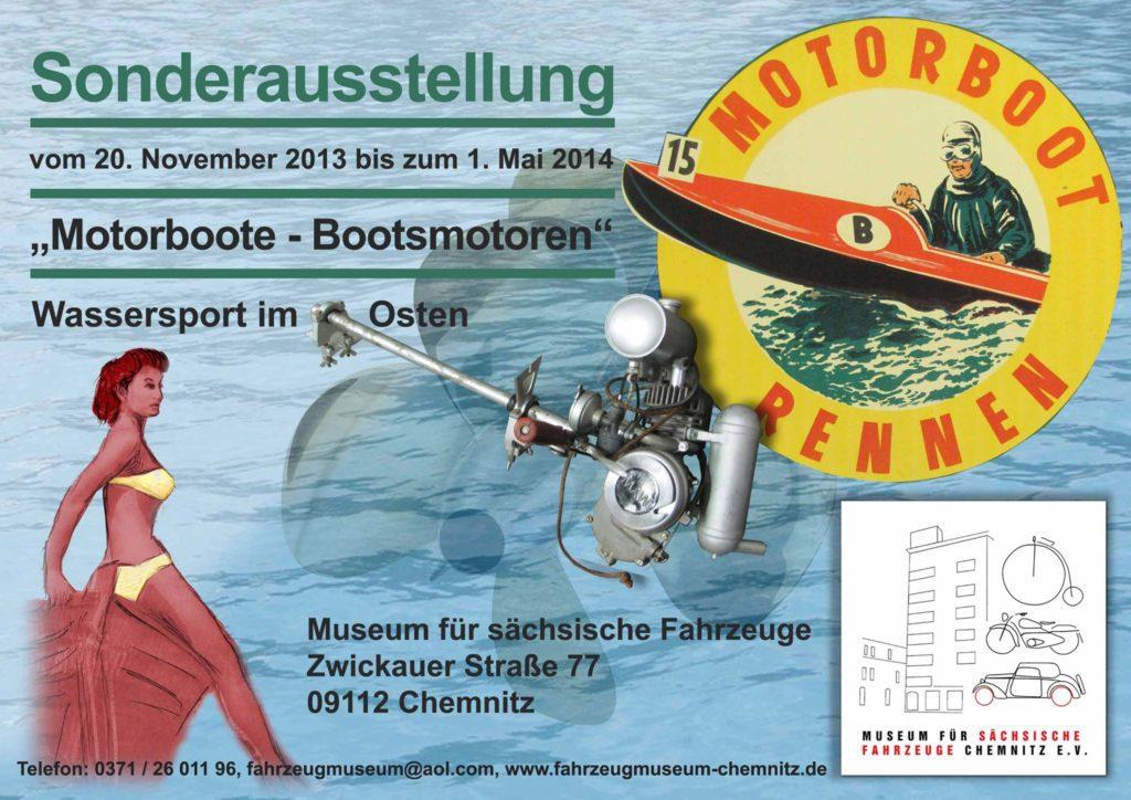 Plakat zur Wassersport-Sonderausstellung 2013/14