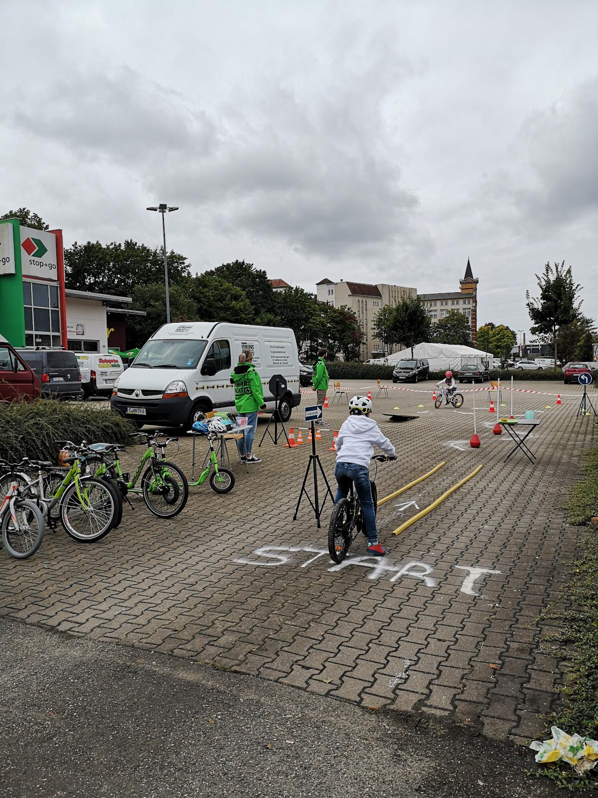 Fahrradparcour der Verkehrswacht