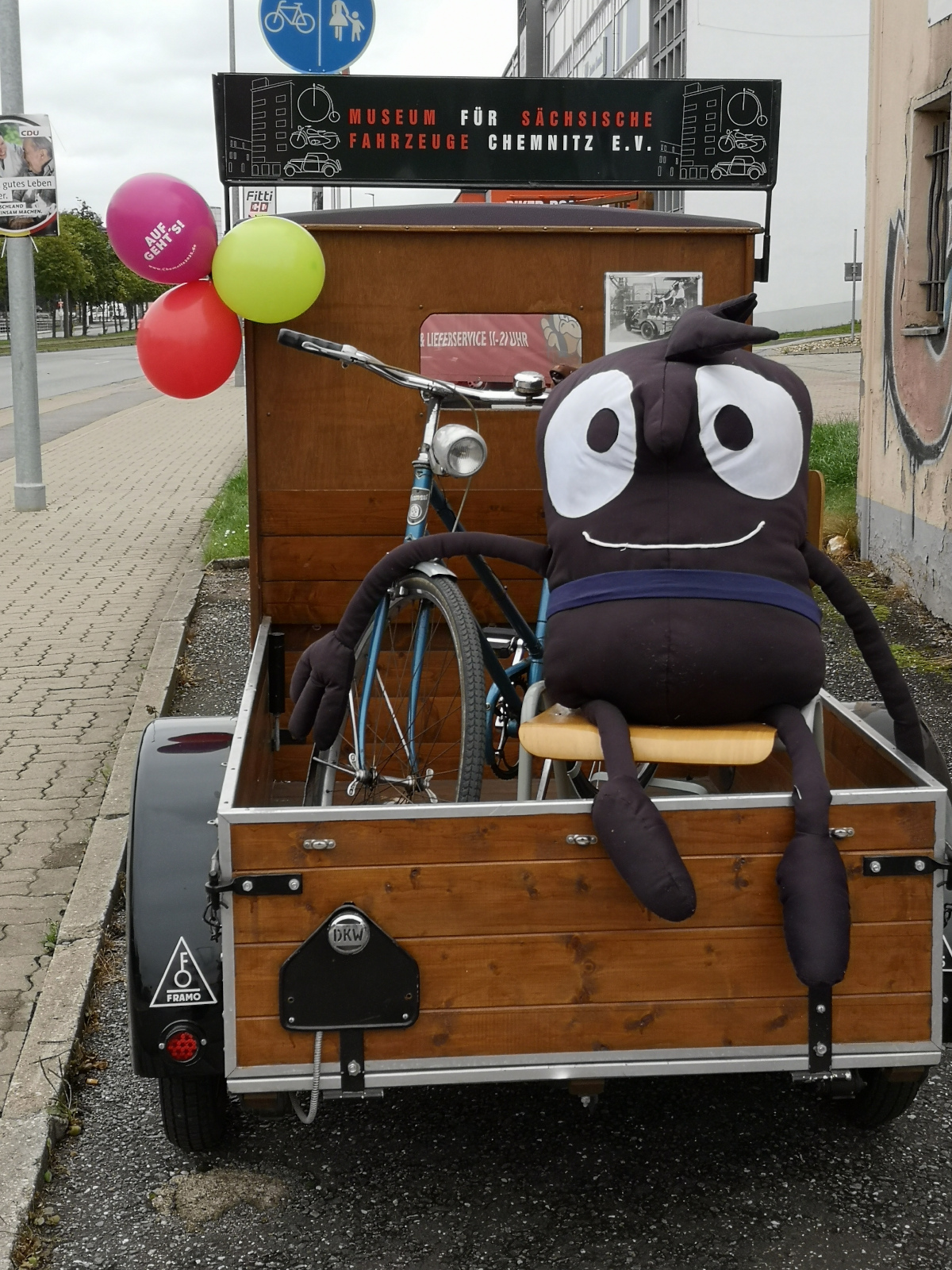 Das Maskottchen der Europäischen Mobilitätswoche: Edgar